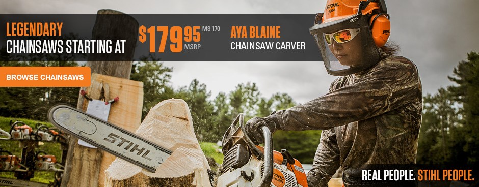 Chainsaws starting at $179.95!